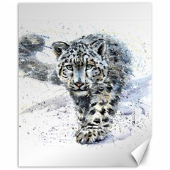 Snow Leopard Canvas 11  X 14   by kostart