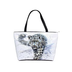Snow Leopard Shoulder Handbags by kostart