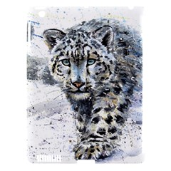Snow Leopard Apple Ipad 3/4 Hardshell Case (compatible With Smart Cover) by kostart