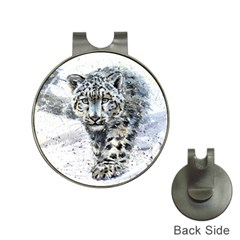 Snow Leopard  Hat Clips With Golf Markers by kostart