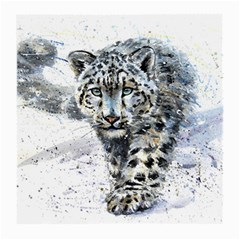 Snow Leopard  Medium Glasses Cloth (2 Side) by kostart