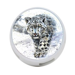Snow Leopard  4 Port Usb Hub (two Sides)  by kostart