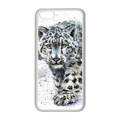 Snow Leopard  Apple Iphone 5c Seamless Case (white) by kostart