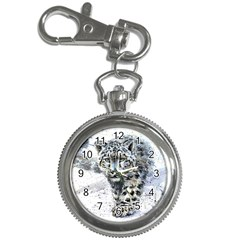 Snow Leopard  Key Chain Watches by kostart