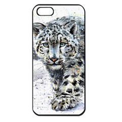 Snow Leopard  Apple Iphone 5 Seamless Case (black) by kostart