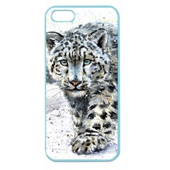 Snow Leopard  Apple Seamless Iphone 5 Case (color) by kostart