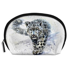 Snow Leopard  Accessory Pouches (large)  by kostart