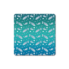 Under The Sea Paisley Square Magnet