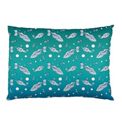 Under The Sea Paisley Pillow Case (two Sides) by emilyzragz