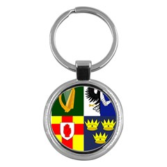 Arms Of Four Provinces Of Ireland  Key Chains (round)  by abbeyz71