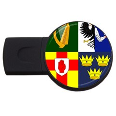 Arms Of Four Provinces Of Ireland  Usb Flash Drive Round (2 Gb) by abbeyz71