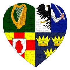 Arms Of Four Provinces Of Ireland  Jigsaw Puzzle (heart) by abbeyz71