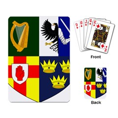 Arms Of Four Provinces Of Ireland  Playing Card by abbeyz71