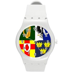 Arms Of Four Provinces Of Ireland  Round Plastic Sport Watch (m) by abbeyz71