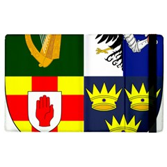 Arms Of Four Provinces Of Ireland  Apple Ipad 2 Flip Case by abbeyz71