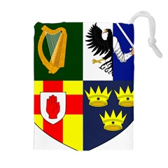 Arms Of Four Provinces Of Ireland  Drawstring Pouches (extra Large) by abbeyz71