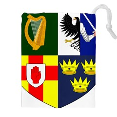 Arms Of Four Provinces Of Ireland  Drawstring Pouches (xxl) by abbeyz71