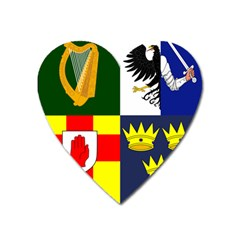 Arms Of Four Provinces Of Ireland  Heart Magnet by abbeyz71