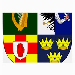 Arms Of Four Provinces Of Ireland  Large Glasses Cloth (2-side) by abbeyz71