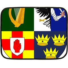 Arms Of Four Provinces Of Ireland  Double Sided Fleece Blanket (mini)  by abbeyz71