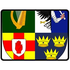 Arms Of Four Provinces Of Ireland  Fleece Blanket (large)