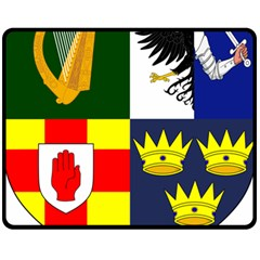 Arms Of Four Provinces Of Ireland  Fleece Blanket (medium)  by abbeyz71