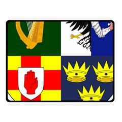 Arms Of Four Provinces Of Ireland  Fleece Blanket (small) by abbeyz71
