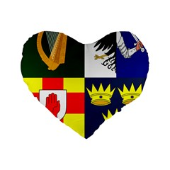 Arms Of Four Provinces Of Ireland  Standard 16  Premium Flano Heart Shape Cushions by abbeyz71