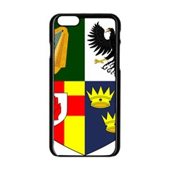 Arms Of Four Provinces Of Ireland  Apple Iphone 6/6s Black Enamel Case by abbeyz71