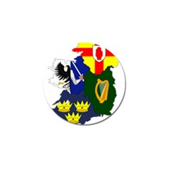 Flag Map Of Provinces Of Ireland Golf Ball Marker (10 Pack)