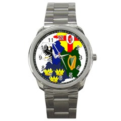 Flag Map Of Provinces Of Ireland Sport Metal Watch
