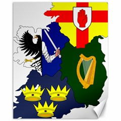 Flag Map Of Provinces Of Ireland Canvas 11  X 14   by abbeyz71