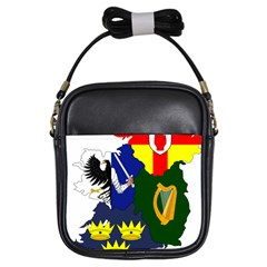 Flag Map Of Provinces Of Ireland Girls Sling Bags by abbeyz71