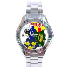 Flag Map Of Provinces Of Ireland Stainless Steel Analogue Watch by abbeyz71