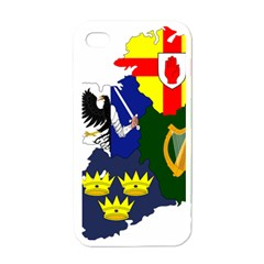 Flag Map Of Provinces Of Ireland Apple Iphone 4 Case (white) by abbeyz71