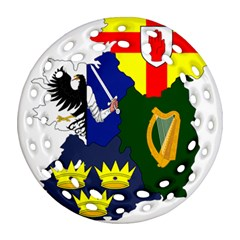 Flag Map Of Provinces Of Ireland Ornament (round Filigree) by abbeyz71