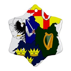 Flag Map Of Provinces Of Ireland Ornament (snowflake) by abbeyz71