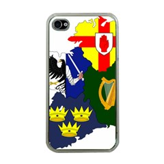 Flag Map Of Provinces Of Ireland Apple Iphone 4 Case (clear) by abbeyz71