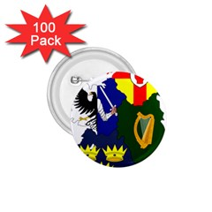 Flag Map Of Provinces Of Ireland  1 75  Buttons (100 Pack)  by abbeyz71