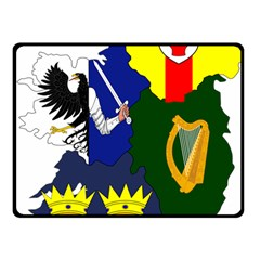 Flag Map Of Provinces Of Ireland  Fleece Blanket (small) by abbeyz71
