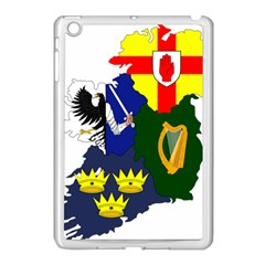 Flag Map Of Provinces Of Ireland  Apple Ipad Mini Case (white) by abbeyz71