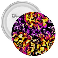 Purple Yellow Flower Plant 3  Buttons by Costasonlineshop