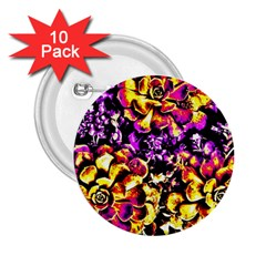 Purple Yellow Flower Plant 2 25  Buttons (10 Pack)  by Costasonlineshop
