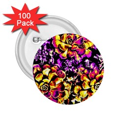 Purple Yellow Flower Plant 2 25  Buttons (100 Pack)  by Costasonlineshop