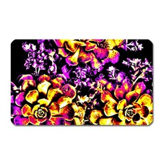 Purple Yellow Flower Plant Magnet (rectangular) by Costasonlineshop