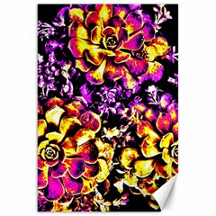 Purple Yellow Flower Plant Canvas 20  X 30   by Costasonlineshop
