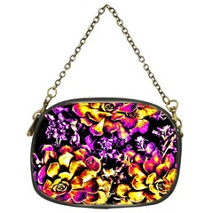 Purple Yellow Flower Plant Chain Purses (one Side)  by Costasonlineshop