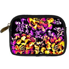 Purple Yellow Flower Plant Digital Camera Cases by Costasonlineshop