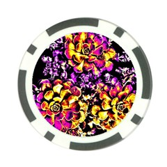 Purple Yellow Flower Plant Poker Chip Card Guard (10 Pack) by Costasonlineshop