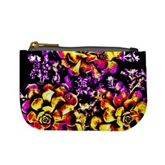 Purple Yellow Flower Plant Mini Coin Purses by Costasonlineshop
